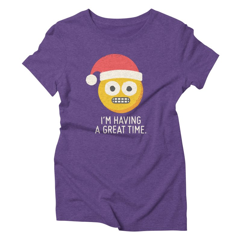 White Knuckle Christmas Women's Triblend T-Shirt by David Olenick