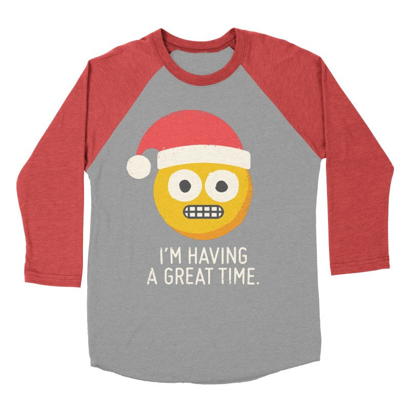 White Knuckle Christmas Men's Baseball Triblend Longsleeve T-Shirt by David Olenick
