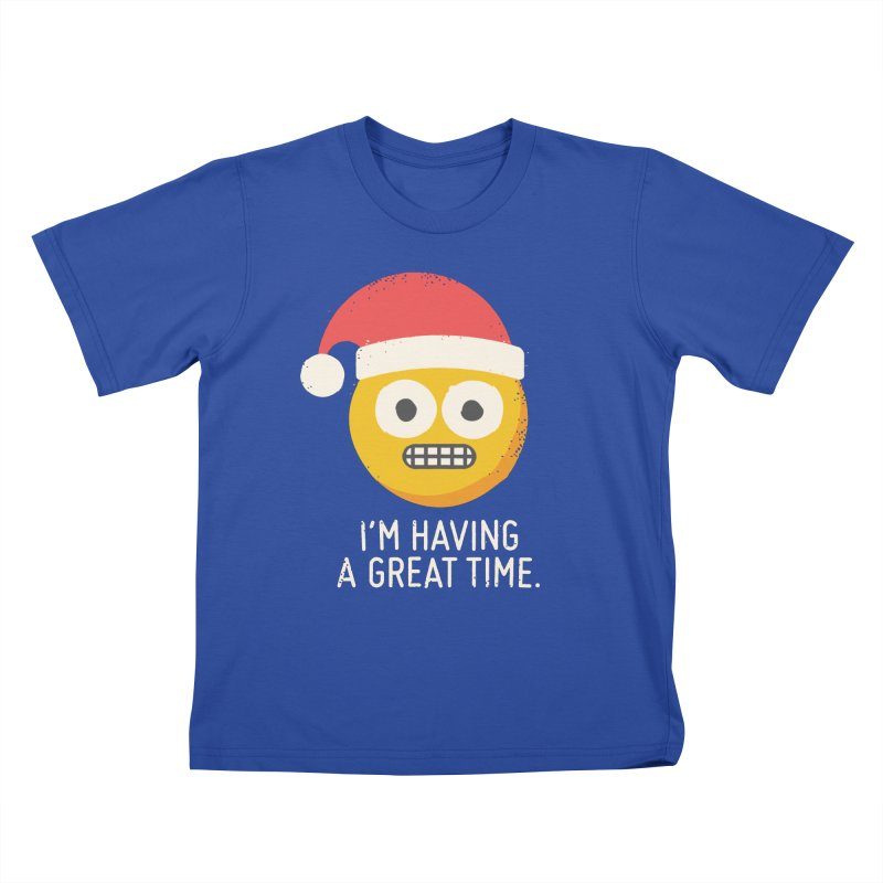 White Knuckle Christmas Kids T-Shirt by David Olenick