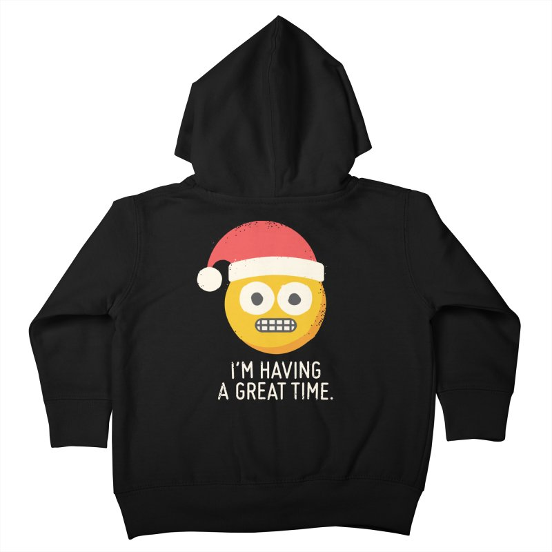 White Knuckle Christmas Kids Toddler Zip-Up Hoody by David Olenick