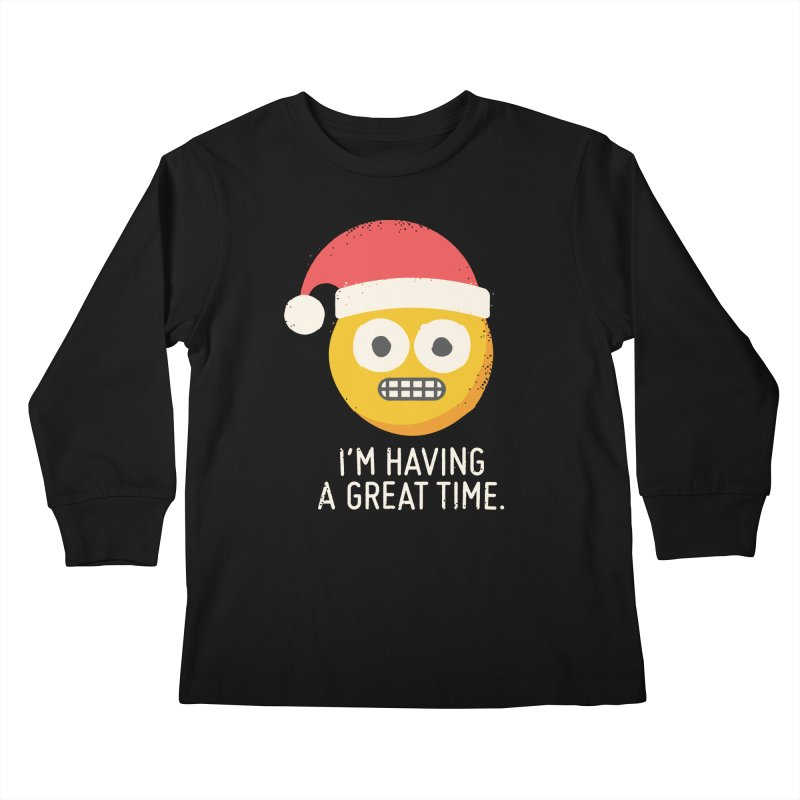 White Knuckle Christmas Kids Longsleeve T-Shirt by David Olenick
