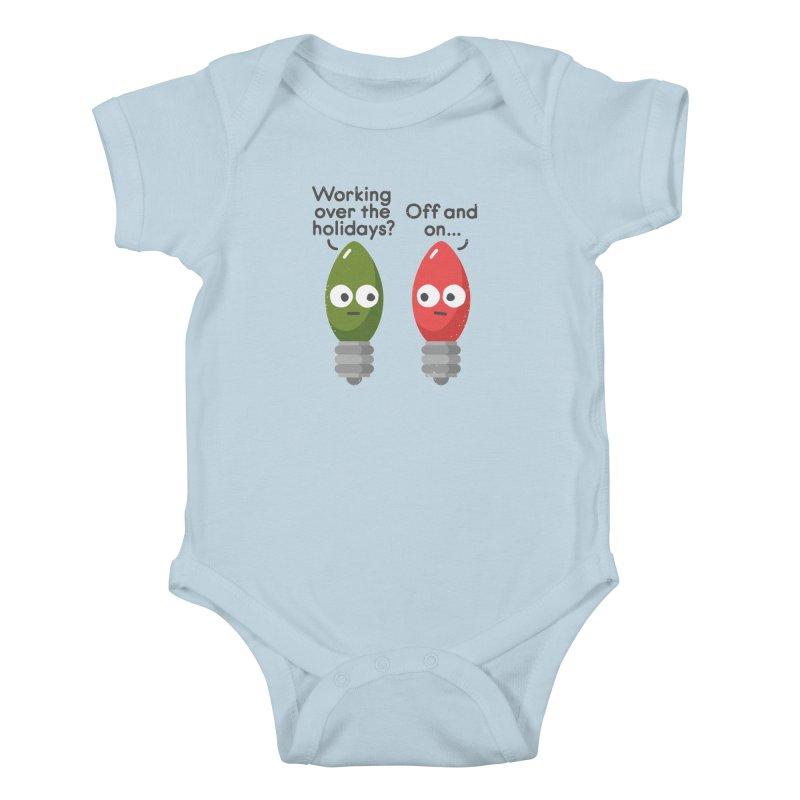 Seasonal Employment Kids Baby Bodysuit by David Olenick