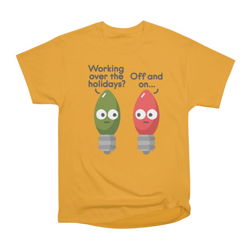 Seasonal Employment Men's Heavyweight T-Shirt by David Olenick
