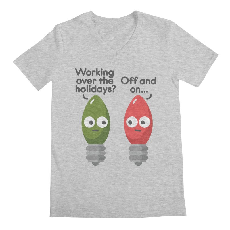 Seasonal Employment Men's V-Neck by David Olenick
