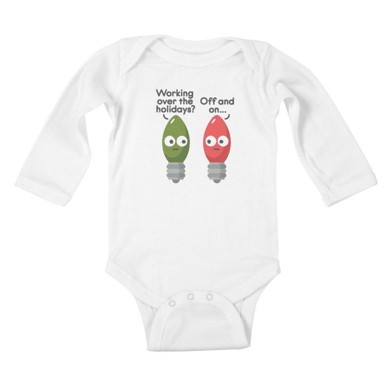 Seasonal Employment Kids Baby Longsleeve Bodysuit by David Olenick