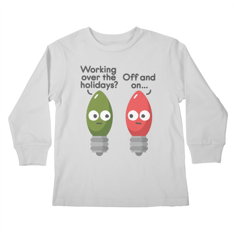 Seasonal Employment Kids Longsleeve T-Shirt by David Olenick