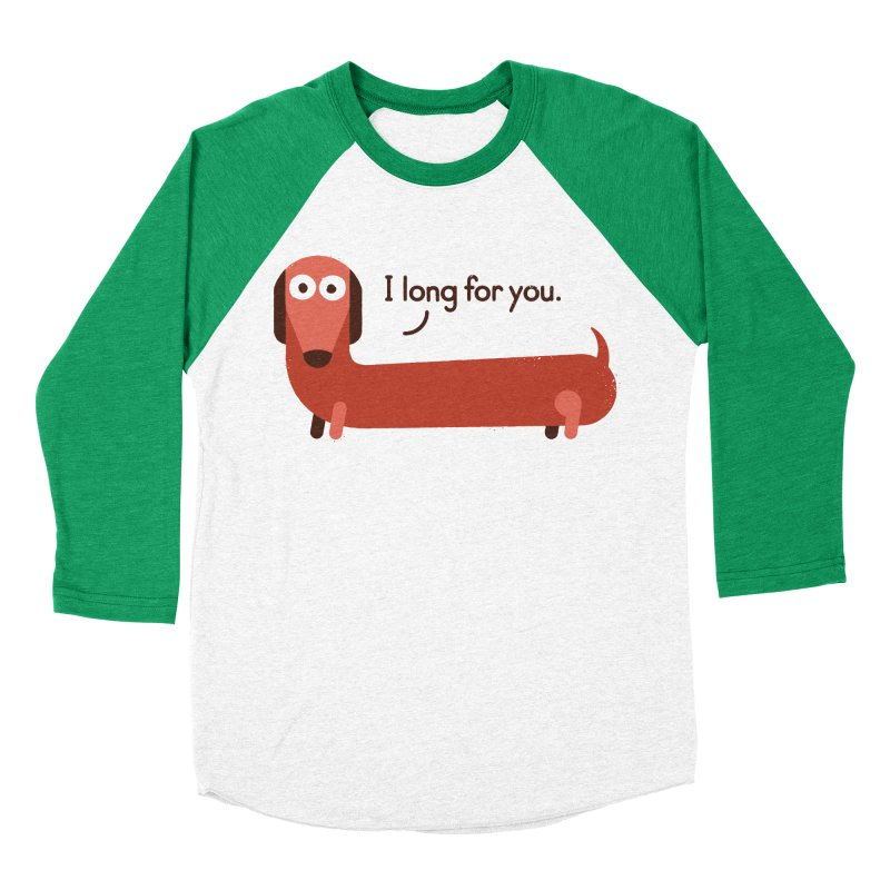 In the Wurst Way Women's Baseball Triblend T-Shirt by David Olenick