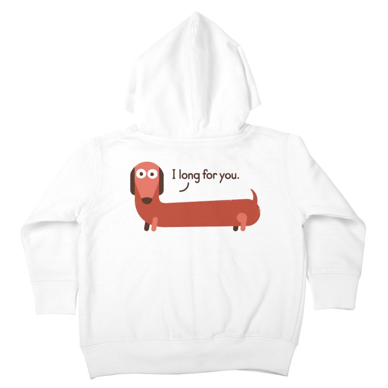 In the Wurst Way Kids Toddler Zip-Up Hoody by David Olenick