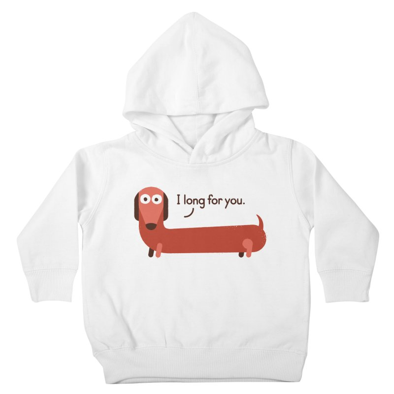In the Wurst Way Kids Toddler Pullover Hoody by David Olenick