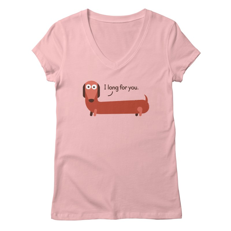 In the Wurst Way Women's V-Neck by David Olenick