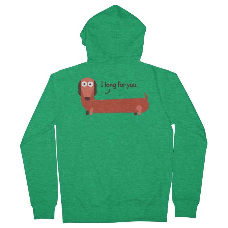 In the Wurst Way Women's Zip-Up Hoody by David Olenick