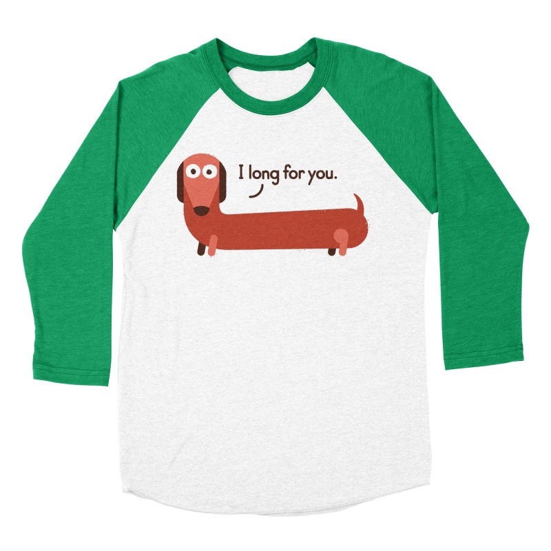 In the Wurst Way Women's Baseball Triblend Longsleeve T-Shirt by David Olenick