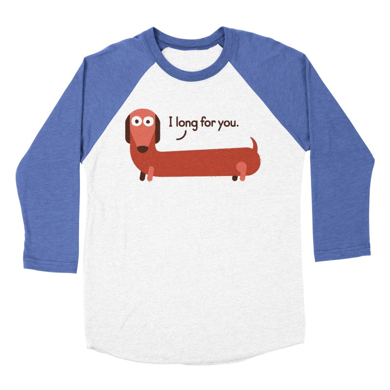 In the Wurst Way Men's Baseball Triblend Longsleeve T-Shirt by David Olenick
