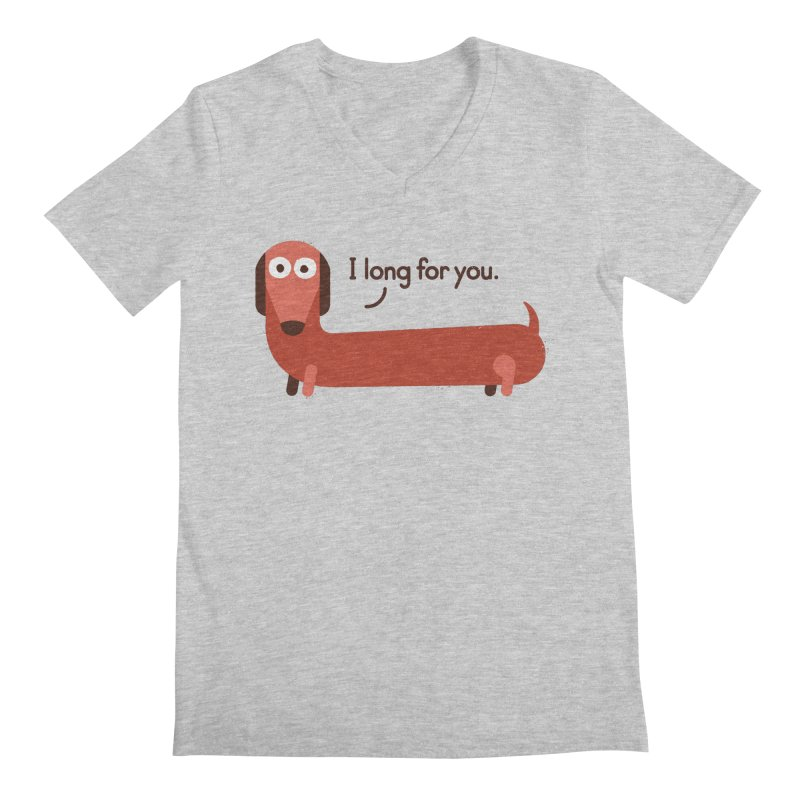 In the Wurst Way Men's V-Neck by David Olenick