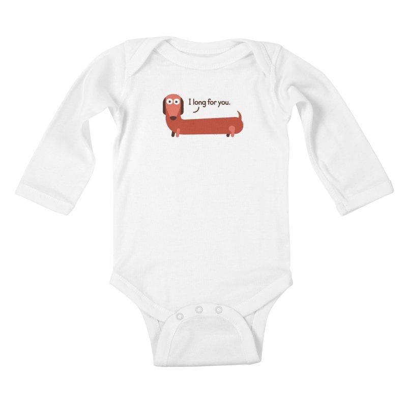In the Wurst Way Kids Baby Longsleeve Bodysuit by David Olenick