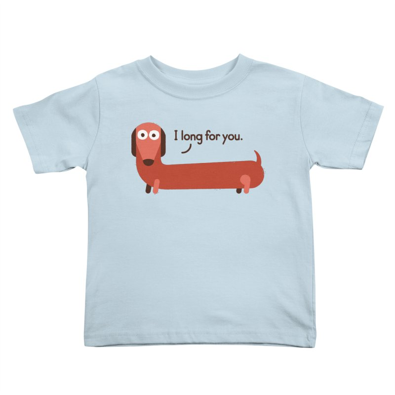 In the Wurst Way Kids Toddler T-Shirt by David Olenick
