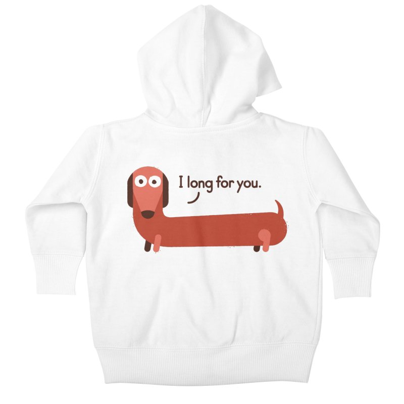 In the Wurst Way Kids Baby Zip-Up Hoody by David Olenick