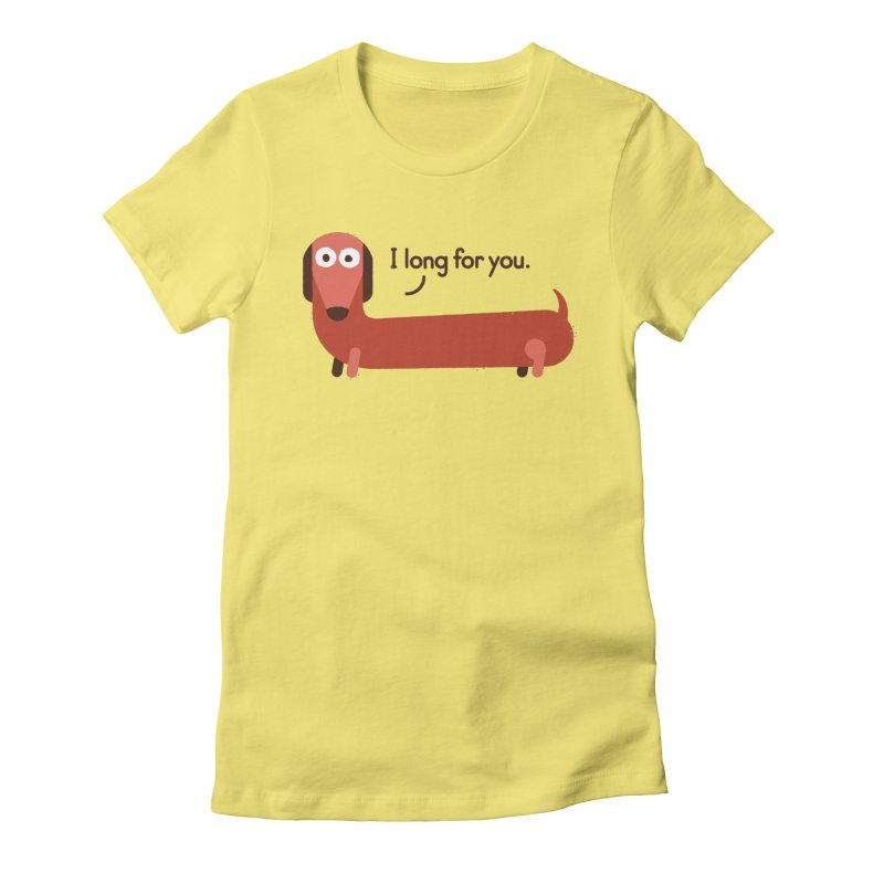 In the Wurst Way Women's Fitted T-Shirt by David Olenick