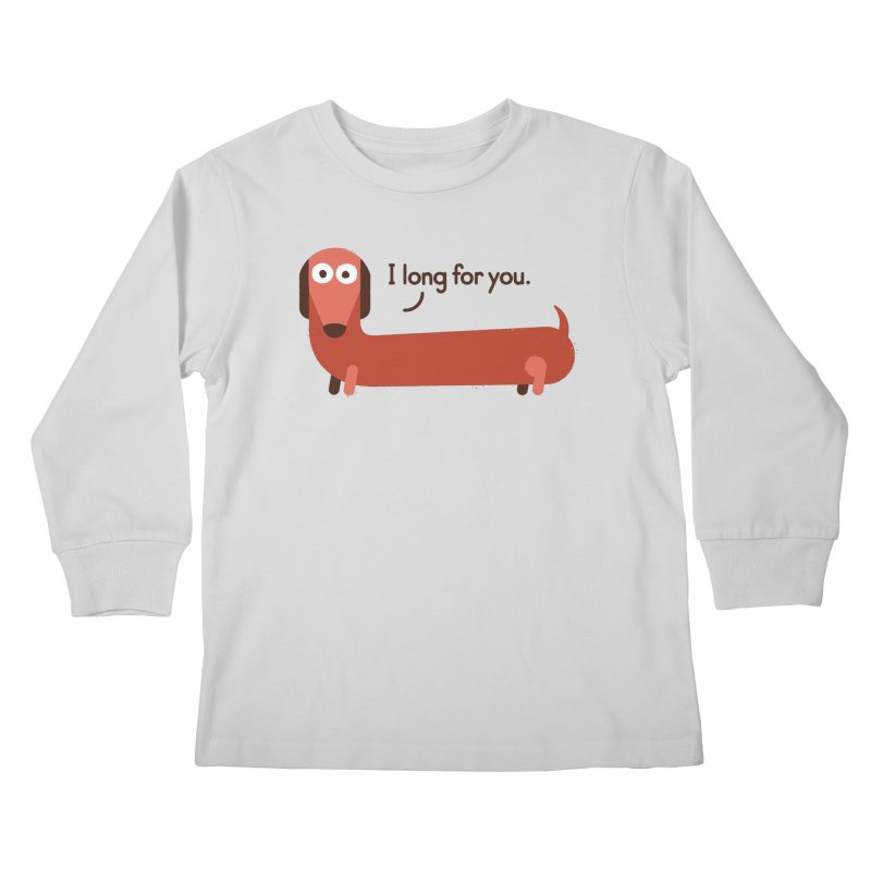 In the Wurst Way Kids Longsleeve T-Shirt by David Olenick