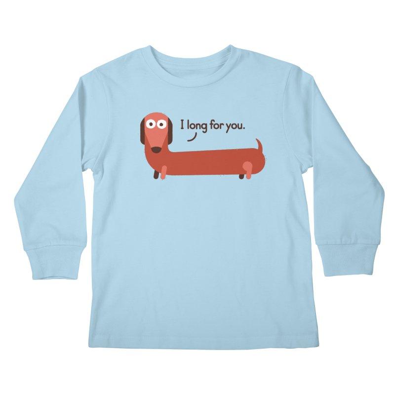 In the Wurst Way Kids Longsleeve T-Shirt by David Olenick