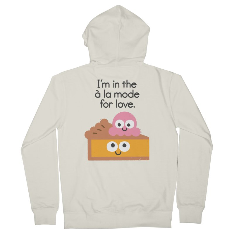 A Relationship Built On Crust Men's French Terry Zip-Up Hoody by David Olenick