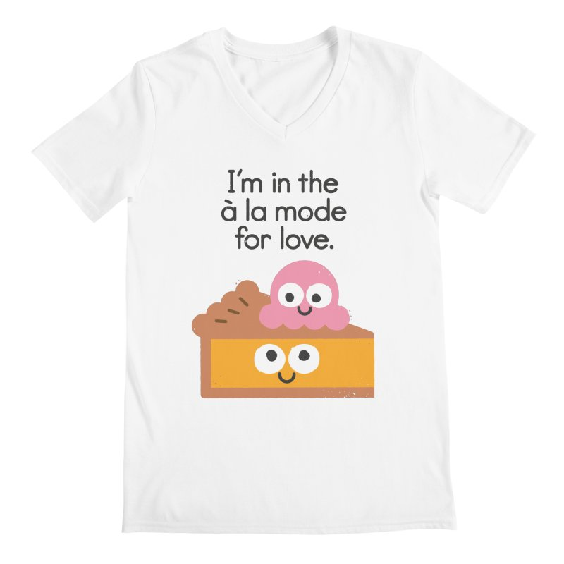 A Relationship Built On Crust Men's V-Neck by David Olenick