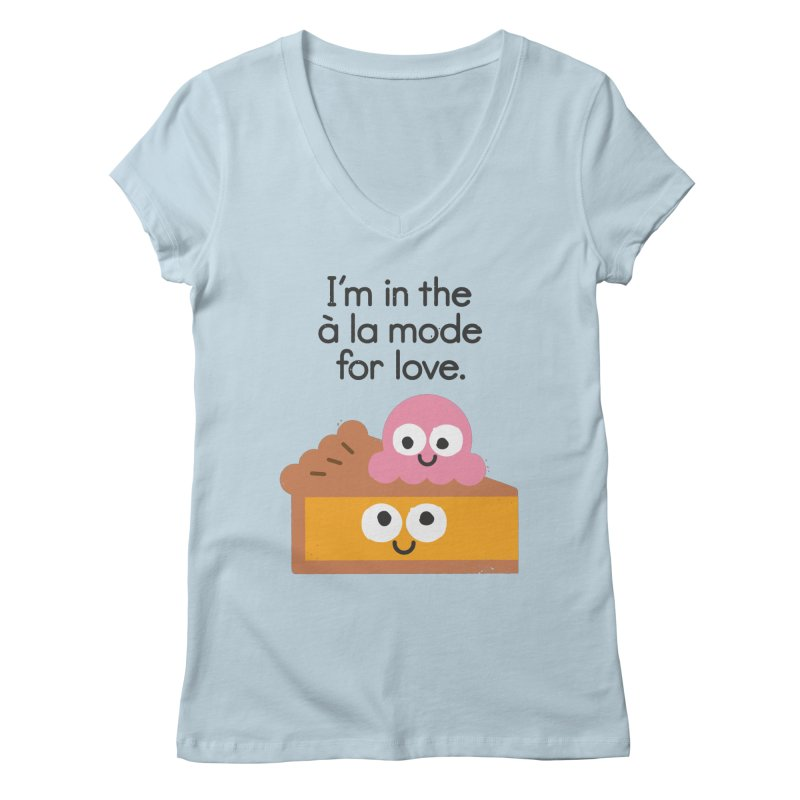 A Relationship Built On Crust Women's V-Neck by David Olenick