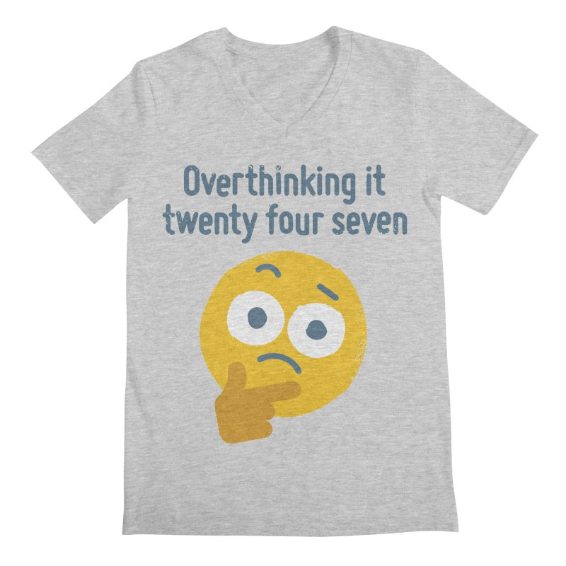Leave Dwell Enough Alone Men's V-Neck by David Olenick