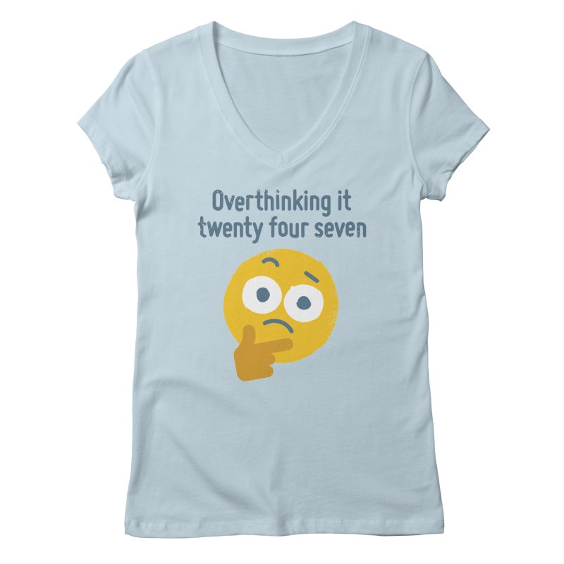 Leave Dwell Enough Alone Women's V-Neck by David Olenick