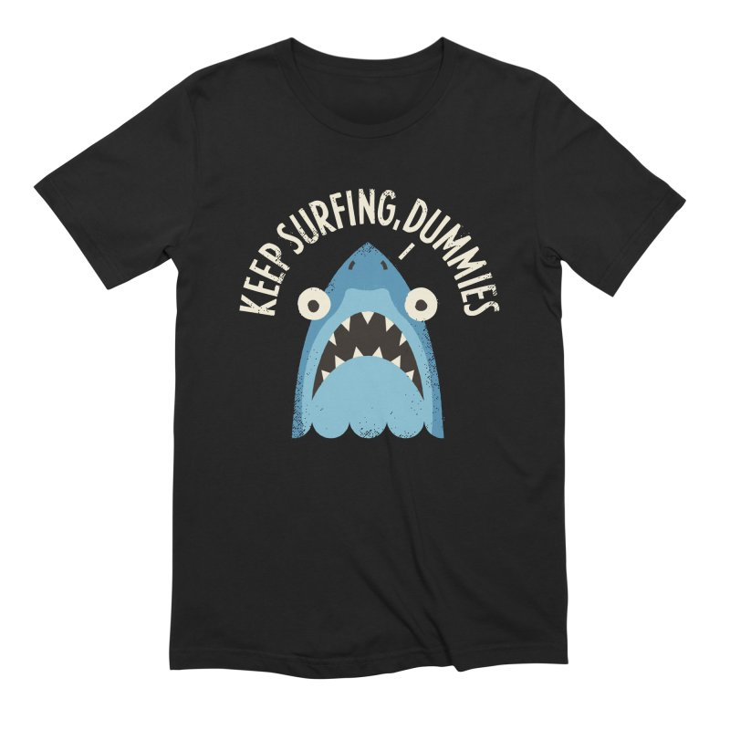 Great White Snark Men's Extra Soft T-Shirt by David Olenick