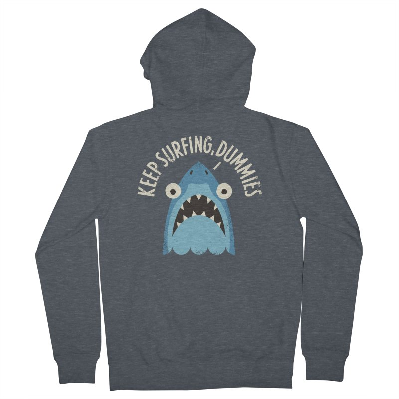 Great White Snark Women's Zip-Up Hoody by David Olenick