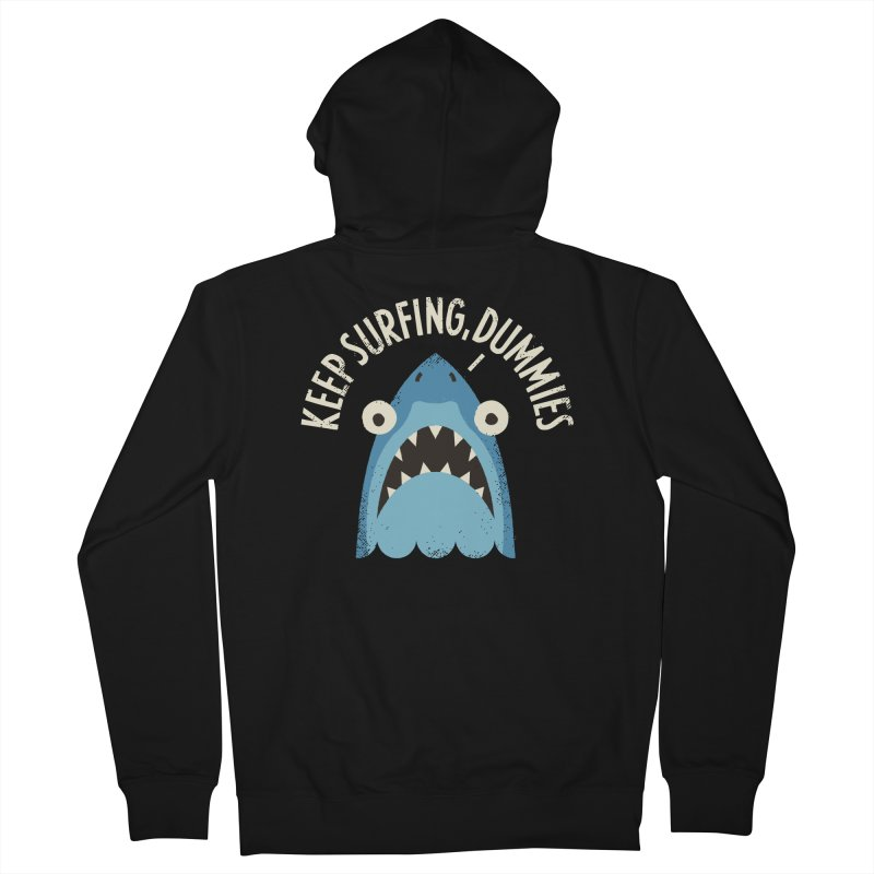 Great White Snark Women's French Terry Zip-Up Hoody by David Olenick