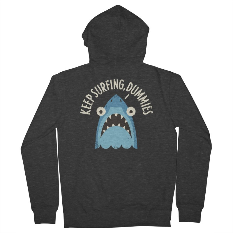 Great White Snark Men's French Terry Zip-Up Hoody by David Olenick