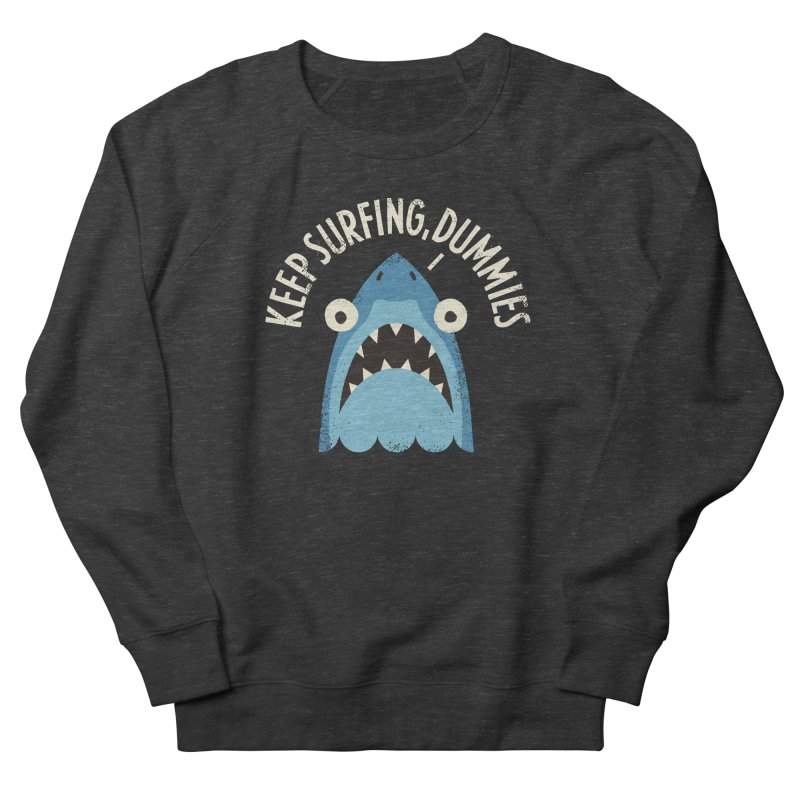 Great White Snark Men's French Terry Sweatshirt by David Olenick