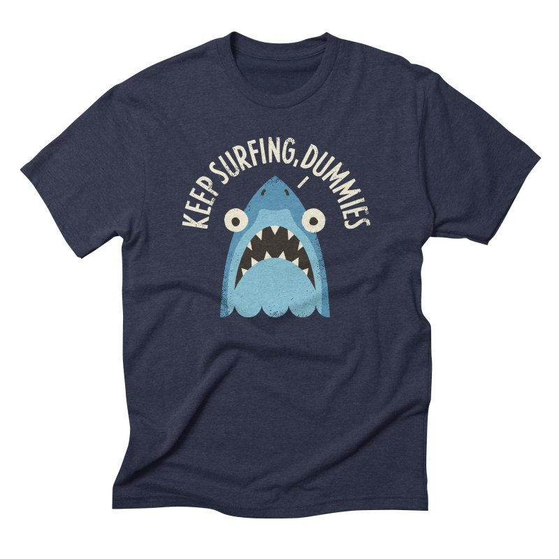 Great White Snark Men's Triblend T-Shirt by David Olenick