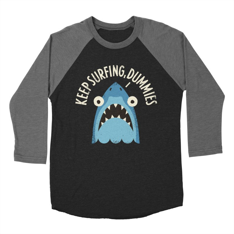 Great White Snark Men's Baseball Triblend Longsleeve T-Shirt by David Olenick