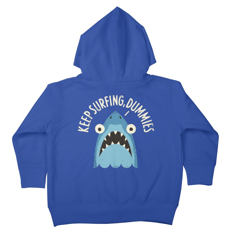 Great White Snark Kids Toddler Zip-Up Hoody by David Olenick