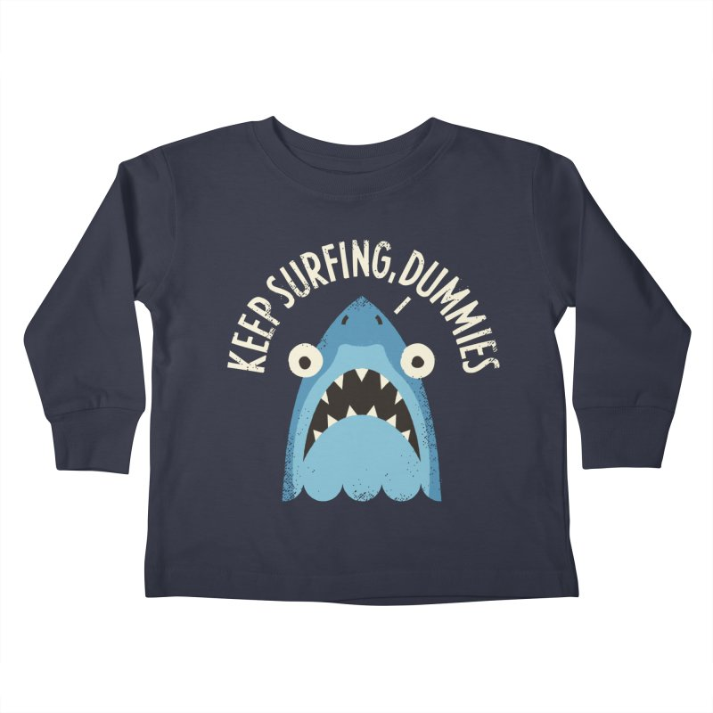 Great White Snark Kids Toddler Longsleeve T-Shirt by David Olenick