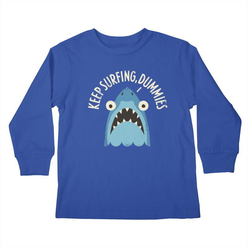 Great White Snark Kids Longsleeve T-Shirt by David Olenick
