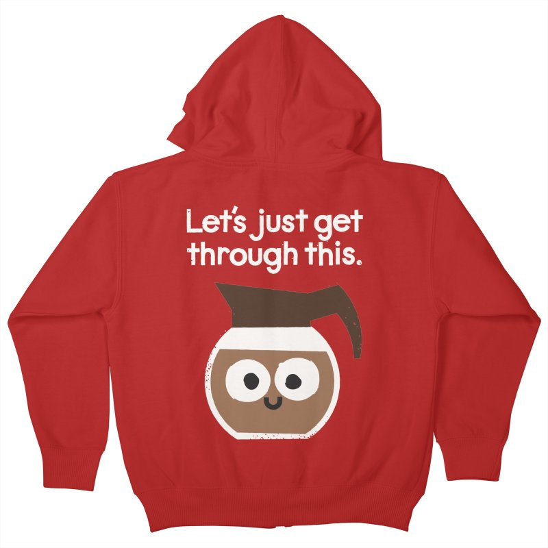 Grounds For Determination Kids Zip-Up Hoody by David Olenick