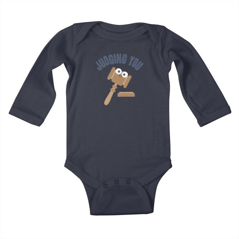 Held In Contempt Kids Baby Longsleeve Bodysuit by David Olenick