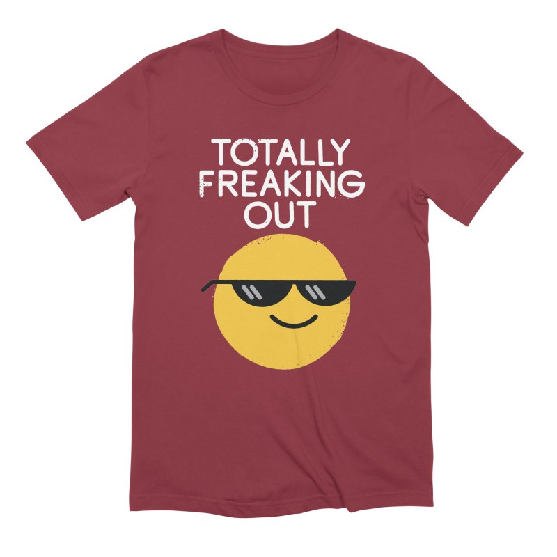Froze Colored Glasses Men's Extra Soft T-Shirt by David Olenick