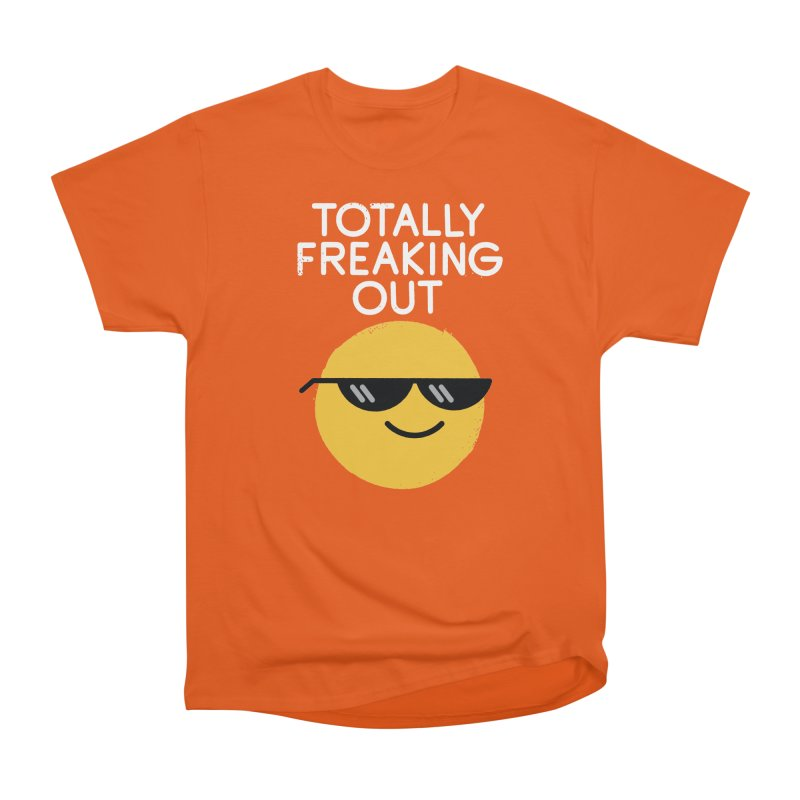Froze Colored Glasses Men's Heavyweight T-Shirt by David Olenick