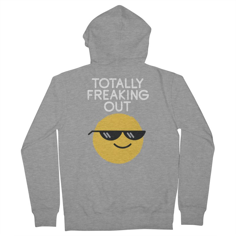 Froze Colored Glasses Women's French Terry Zip-Up Hoody by David Olenick