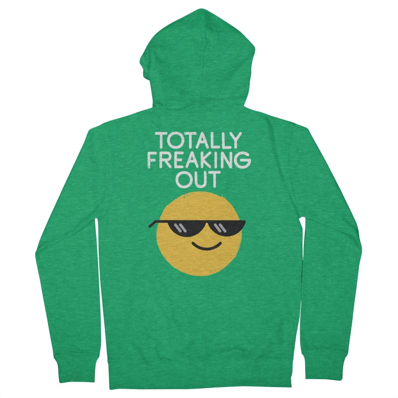 Froze Colored Glasses Men's French Terry Zip-Up Hoody by David Olenick