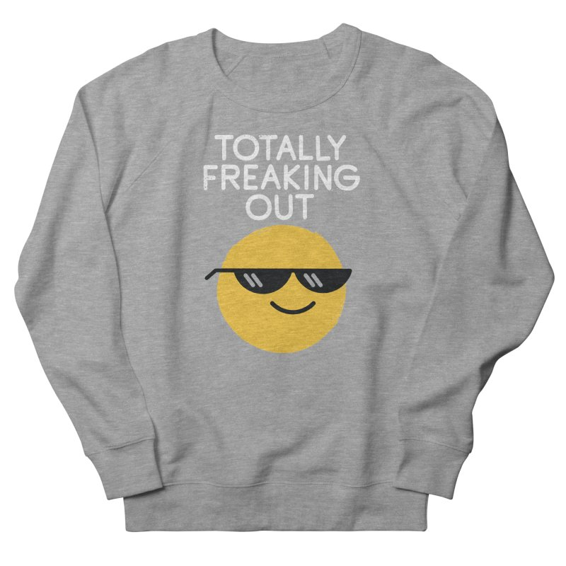 Froze Colored Glasses Men's French Terry Sweatshirt by David Olenick