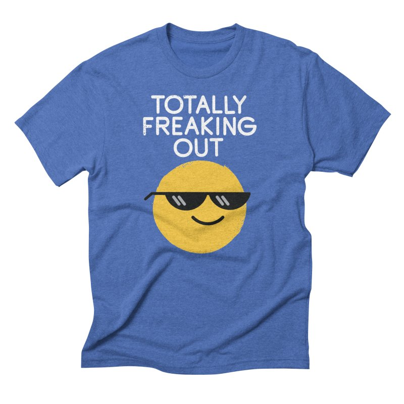 Froze Colored Glasses Men's Triblend T-Shirt by David Olenick