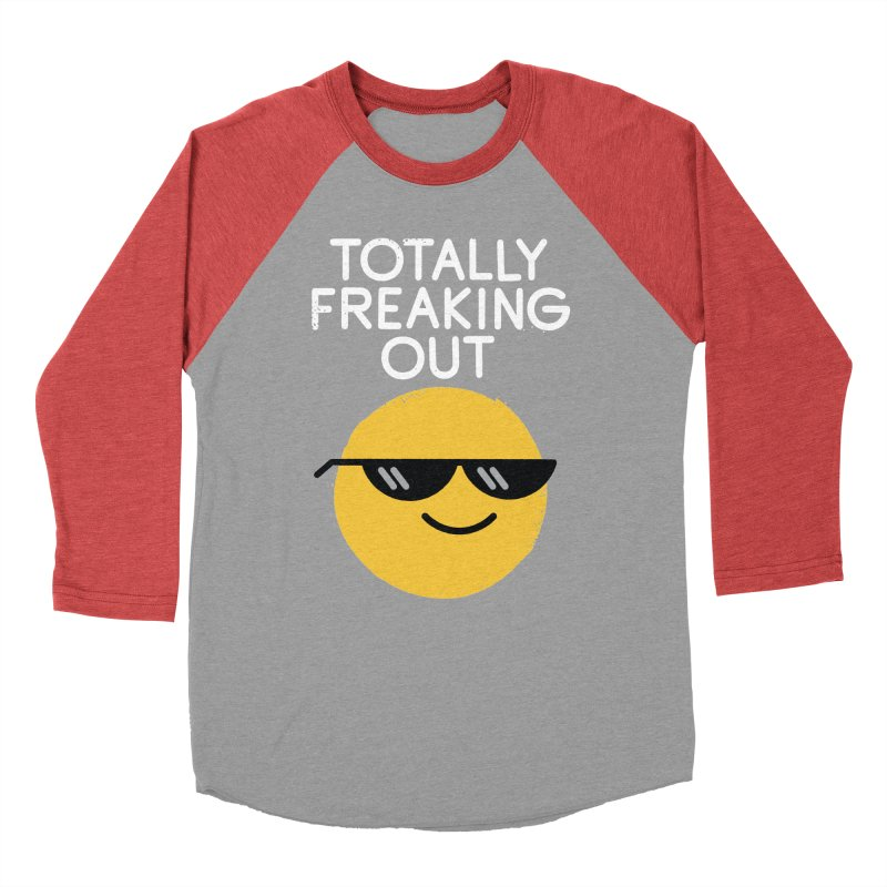 Froze Colored Glasses Men's Baseball Triblend Longsleeve T-Shirt by David Olenick