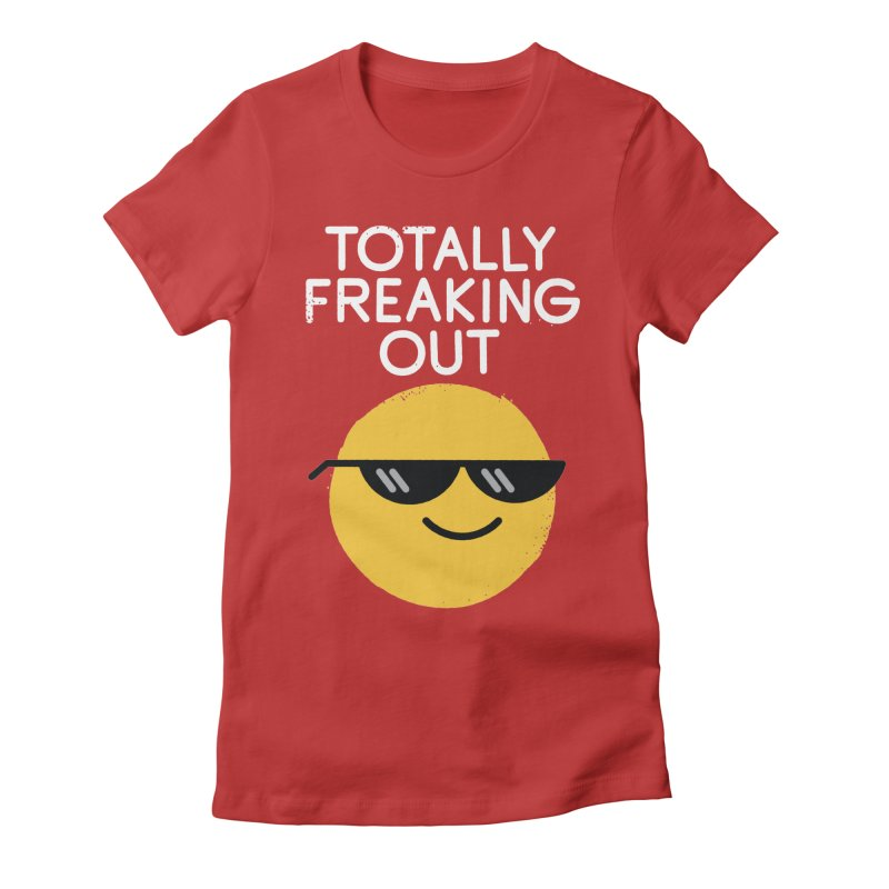Froze Colored Glasses Women's Fitted T-Shirt by David Olenick