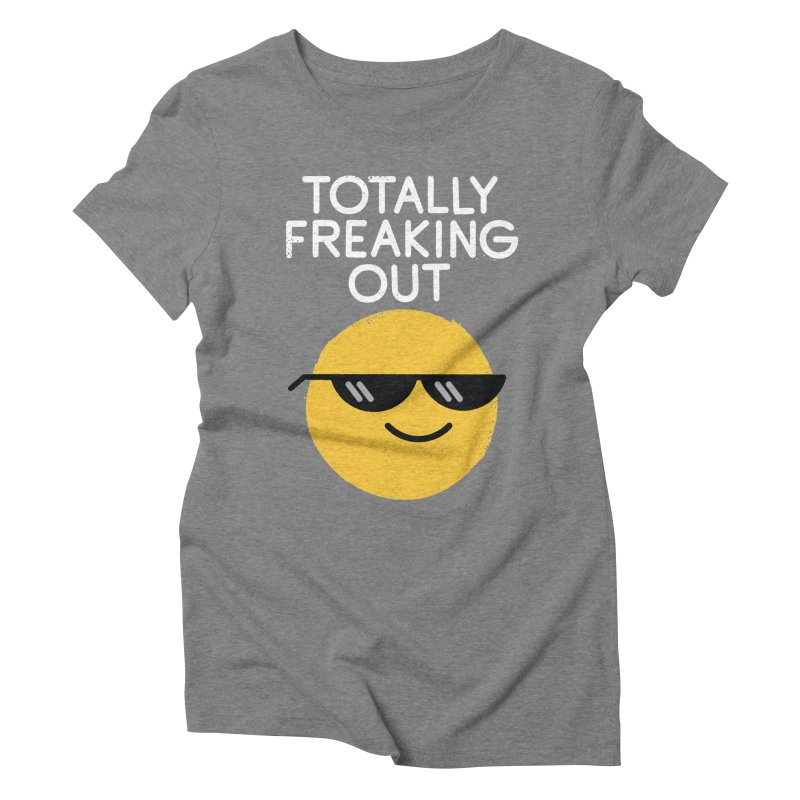 Froze Colored Glasses Women's Triblend T-Shirt by David Olenick
